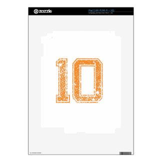 El naranja se divierte el número 10.png de Jerzee iPad 2 Skins
