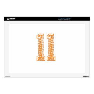 El naranja se divierte el número 11.png de Jerzee Portátil Skin