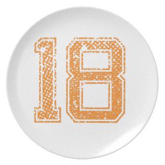 El naranja se divierte el número 18.png de Jerzee Platos De Comidas
