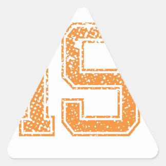 El naranja se divierte el número 19.png de Jerzee Pegatina Triangular