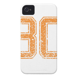 El naranja se divierte el número 30.png de Jerzee Case-Mate iPhone 4 Cárcasas