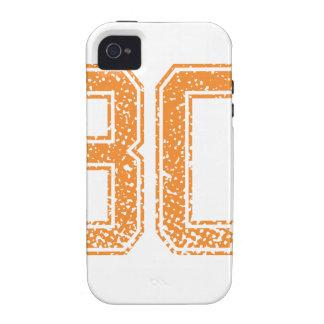 El naranja se divierte el número 30.png de Jerzee iPhone 4 Funda