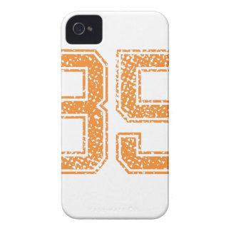 El naranja se divierte el número 35.png de Jerzee iPhone 4 Cárcasa