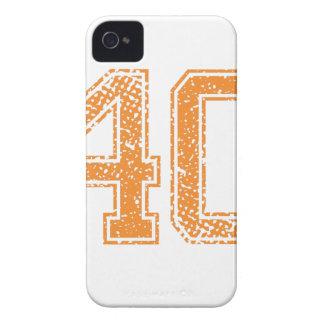 El naranja se divierte el número 40.png de Jerzee iPhone 4 Cárcasa