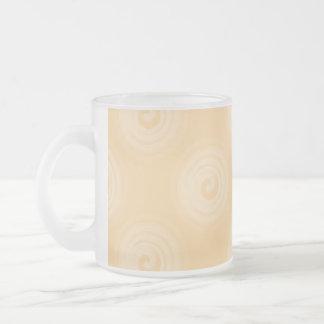 El naranja tuerce en espiral modelo taza de café