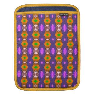 El naranja violeta encadena el modelo abstracto funda para iPads