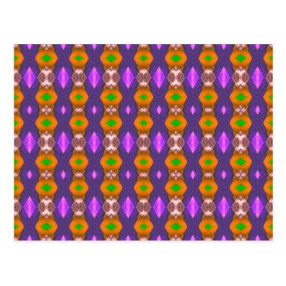 El naranja violeta encadena el modelo abstracto postal