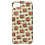 El naranja y el moreno retros ajusta el caso del i iPhone 5 Case-Mate protector