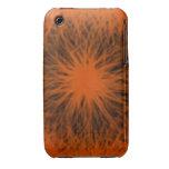 El naranja y el negro protagonizan el ambiente Uni Case-Mate iPhone 3 Cárcasa