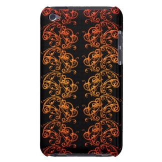 El naranja y el negro remolina las cajas y las Case-Mate iPod touch carcasas