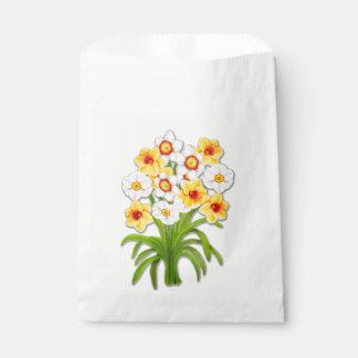 El narciso alegre de la primavera florece bolsos