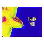 El narciso amarillo del arte pop le agradece posta tarjeta postal