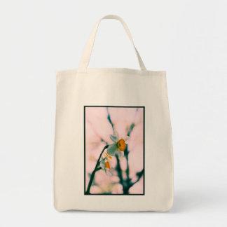 El narciso florece - el photog blanco y amarillo a bolsa