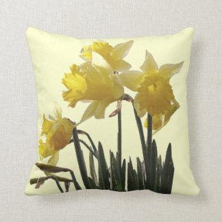 El narciso florece la almohada