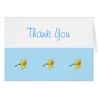 El narciso (narciso) le agradece tarjeta de felicitación