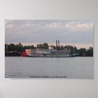El Natchez, un Paddleboat en el río Misisipi Posters