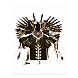 El nativo americano empluma los regalos y la ropa postal