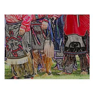 El nativo americano viste la postal