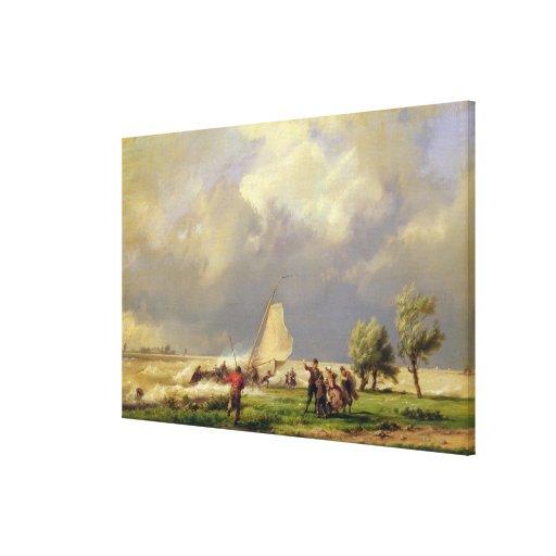El naufragio lienzo envuelto para galerías