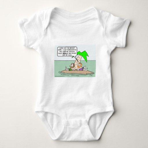 El náufrago piensa en su inversión de Bernie Body Para Bebé