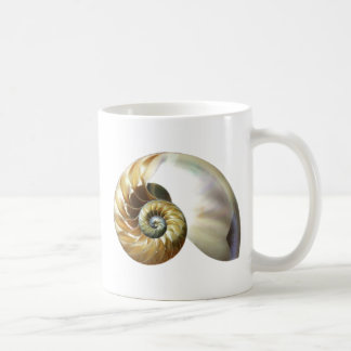 El nautilus Shell Taza Básica Blanca