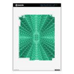 El nautilus verde abstracto Shell hace tabletas la iPad 3 Skins
