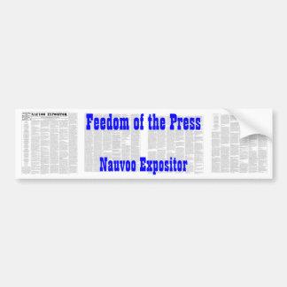 El Nauvoo Expositor Pegatina De Parachoque