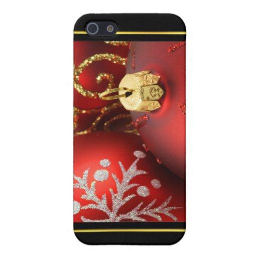 El navidad adorna 4 que encajonan iPhone 5 cárcasas