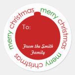 El navidad adorna a y desde etiqueta autoadhesiva