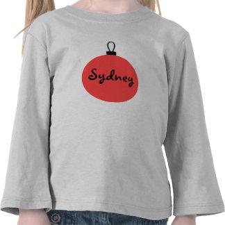 El navidad adorna la camiseta personalizada