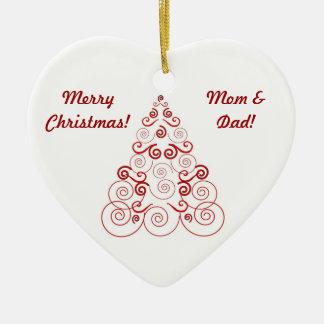 El navidad adorna para la mamá y el papá, árbol ornamentos de reyes