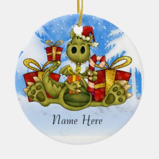El navidad adorna que usted puede personalizar adorno navideño redondo de cerámica