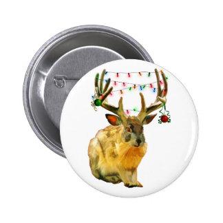 El navidad adornó Jackalope Pins