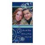 El navidad ahorra las tarjetas de la foto del boda plantilla para tarjeta de foto