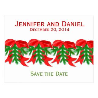 El navidad ahorra los arcos de las invitaciones de postales