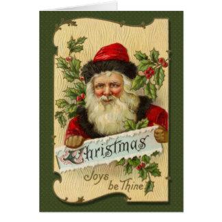 El navidad, alegrías sea Thine Tarjeta