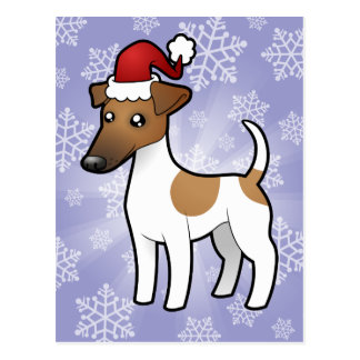 El navidad alisa el fox terrier tarjetas postales