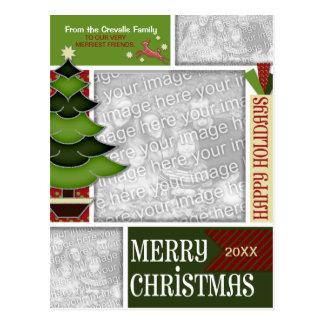 El navidad AÑADE SU árbol caprichoso de la FOTO Postales