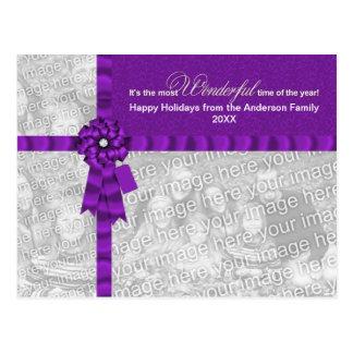 El navidad AÑADE SU arco envuelto maravilloso de l Tarjetas Postales