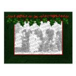 El navidad añade su postal del marco de la foto