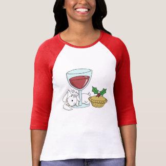 El navidad anima con un conejito de Flutterby Camiseta