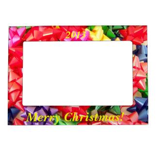 El navidad arquea el marco magnético marcos magneticos de fotos