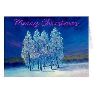 El navidad atavía árboles tarjeta de felicitación