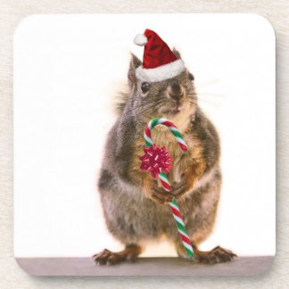 El navidad atesora con el bastón de caramelo posavasos de bebida