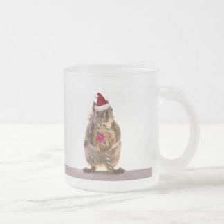 El navidad atesora con el bastón de caramelo tazas de café