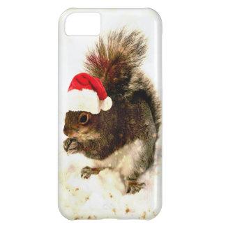 El navidad atesora con el gorra de Santa en nieve Funda Para iPhone 5C