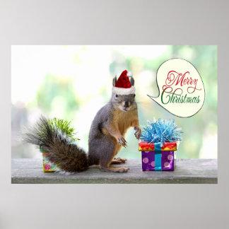 El navidad atesora con los regalos de Navidad Posters