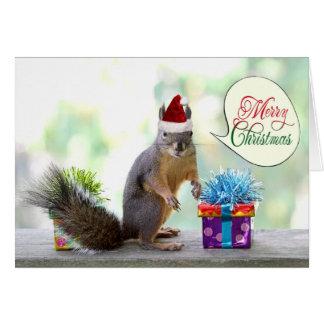 El navidad atesora con los regalos de Navidad Tarjeta De Felicitación