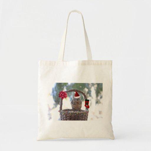 El navidad atesora en la cesta Nevado Bolsas