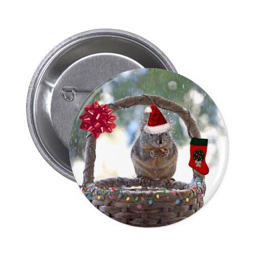 El navidad atesora en la cesta Nevado Pin
